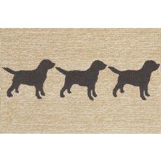 "Liora Manne Frontporch Doggies Indoor/Outdoor Rug - Natural, 30"" By 48"""