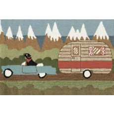 """Liora Manne Frontporch Camping Dog Indoor/Outdoor Rug - Green, 30"""" By 48"""""""