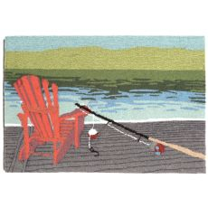 "Liora Manne Frontporch Lakeside Indoor/Outdoor Rug - Blue, 20"" By 30"""