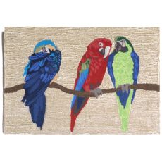 "Liora Manne Frontporch Parrots Indoor/Outdoor Rug - Natural, 30"" by 48"""