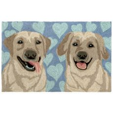"Liora Manne Frontporch Puppy Love Indoor/Outdoor Rug - Blue, 24"" By 36"""
