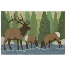 "Liora Manne Frontporch Elk Indoor/Outdoor Rug - Green, 30"" by 48"""