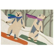 """Liora Manne Frontporch Boarding Bears Indoor/Outdoor Rug - Multi, 30"""" by 48"""""""