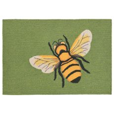 "Liora Manne Frontporch Bee Indoor/Outdoor Rug - Green, 20"" By 30"""