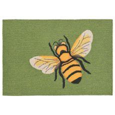 "Liora Manne Frontporch Bee Indoor/Outdoor Rug - Green, 30"" By 48"""