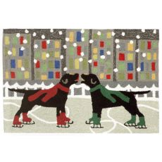 """Liora Manne Frontporch Holiday Ice Dogs Indoor/Outdoor Rug - Multi, 24"""" By 36"""""""