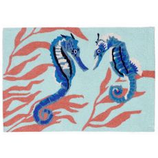 "Liora Manne Frontporch Seahorse Indoor/Outdoor Rug - Blue, 30"" by 48"""