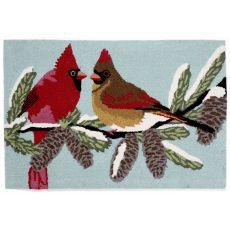 """Liora Manne Frontporch Cardinals Indoor/Outdoor Rug - Blue, 30"""" By 48"""""""