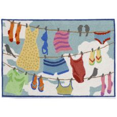 """Liora Manne Frontporch Clothes Line Indoor/Outdoor Rug - Multi, 20"""" By 30"""""""