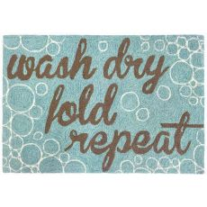 """Liora Manne Frontporch Wash...And Repeat Indoor/Outdoor Rug - Blue, 30"""" By 48"""""""
