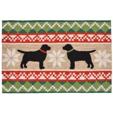"""Liora Manne Frontporch Nordic Dogs Indoor/Outdoor Rug - Natural, 30"""" By 48"""""""