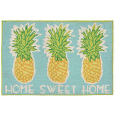 "Liora Manne Frontporch Home Sweet Home Indoor/Outdoor Rug - Blue, 24"" by 36"""