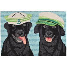 "Liora Manne Frontporch Salty Dogs Indoor/Outdoor Rug - Blue, 20"" by 30"""