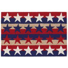 "Liora Manne Frontporch Stars & Stripes Indoor/Outdoor Rug - Red, 20"" By 30"""