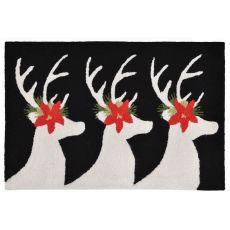 "Liora Manne Frontporch Reindeer Indoor/Outdoor Rug - Black, 20"" By 30"""