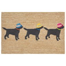 "Liora Manne Frontporch 3 Dogs Vacation Indoor/Outdoor Rug - Natural, 24"" by 36"""