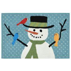 "Liora Manne Frontporch Snowman And Friends Indoor/Outdoor Rug - Blue, 30"" By 48"""