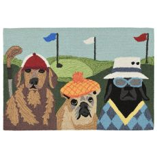"Liora Manne Frontporch Putts & Mutts Indoor/Outdoor Rug Multi 24""X36"""