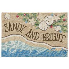"""Liora Manne Frontporch Sandy & Bright Indoor/Outdoor Rug Natural 30""""X48"""""""