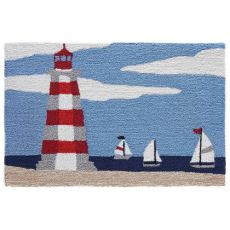 "Liora Manne Frontporch Lighthouse Indoor/Outdoor Rug Sky 30""X48"""