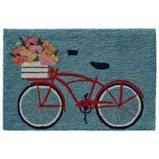 """Liora Manne Frontporch Bike Ride Indoor/Outdoor Rug Blue 24""""X36"""""""
