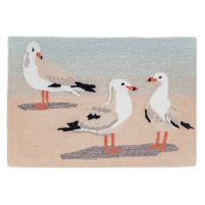 "Liora Manne Frontporch Gulls Indoor/Outdoor Rug Sand 24""X36"""