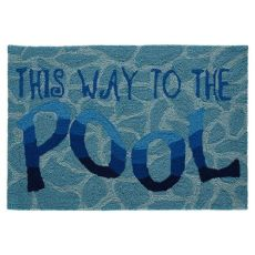 "Liora Manne Frontporch This Way To The Pool Indoor/Outdoor Rug Water 20""X30"""