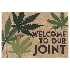 """Liora Manne Frontporch Welcome To Our Joint Indoor/Outdoor Rug Natural 24""""x36"""""""