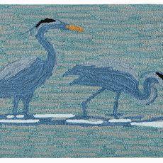 """Liora Manne Frontporch Blue Heron Indoor/Outdoor Rug Lake 30""""x48"""""""