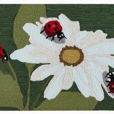 "Liora Manne Frontporch Ladybugs Indoor/Outdoor Rug Green 30""x48"""