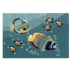 """Liora Manne Frontporch Aquarium Indoor/Outdoor Rug Ocean 30""""x48"""""""