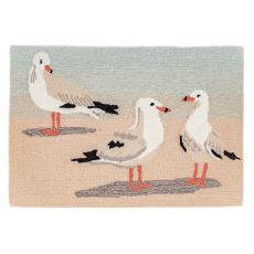"Liora Manne Frontporch Gulls Indoor/Outdoor Rug Sand 30""X48"""