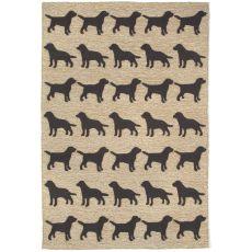 "Liora Manne Frontporch Doggies Indoor/Outdoor Rug - Natural, 5' By 7'6"""