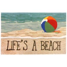 Liora Manne Frontporch Life'S A Beach Indoor/Outdoor Rug, 5' By 7'6""