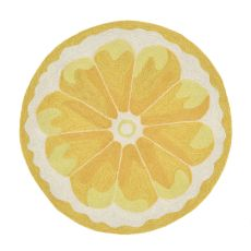 Liora Manne Frontporch Lemon Slice Indoor/Outdoor Rug - Yellow, 3' Rd