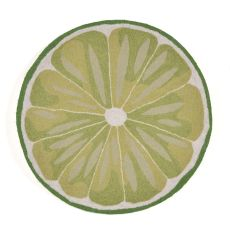 Liora Manne Frontporch Lime Slice Indoor/Outdoor Rug - Green, 3' Rd