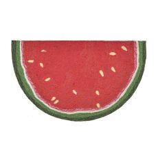 """Liora Manne Frontporch Watermelon Slice Indoor/Outdoor Rug - Red, 30"""" by 48"""" 1/2 RD"""