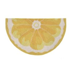 "Liora Manne Frontporch Lemon Slice Indoor/Outdoor Rug - Yellow, 30"" by 48"" 1/2 RD"