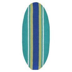 """Liora Manne Frontporch Stripeboard Indoor/Outdoor Rug - Blue, 17.5"""" by 43"""""""