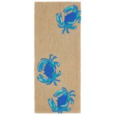 "Crabs Blue Indoor/Outdoor Rug  24""x60"""