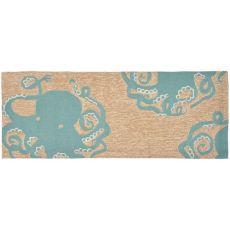 Octopus Indoor/Outdoor Rug Aqua