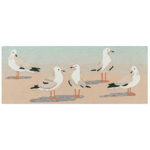 "Liora Manne Frontporch Gulls Indoor/Outdoor Rug Sand 24""X60"""