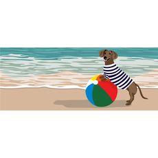 """Liora Manne Frontporch Coastal Dog Indoor/Outdoor Rug Ocean 24""""x60"""""""
