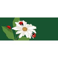 "Liora Manne Frontporch Ladybugs Indoor/Outdoor Rug Green 24""x60"""