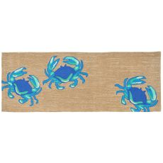 "Liora Manne Frontporch Crabs Indoor/Outdoor Rug - Blue, 27"" by 72"""
