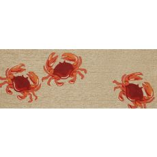 "Liora Manne Frontporch Crabs Indoor/Outdoor Rug - Natural, 27"" by 72"""