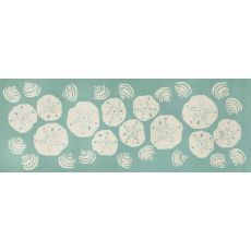 "Liora Manne Frontporch Shell Toss Indoor/Outdoor Rug - Blue, 27"" by 72"""
