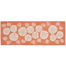 """Liora Manne Frontporch Shell Toss Indoor/Outdoor Rug - Orange, 27"""" by 72"""""""