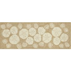 "Liora Manne Frontporch Shell Toss Indoor/Outdoor Rug - Natural, 27"" by 72"""