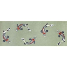 """Liora Manne Frontporch Koi Fish Indoor/Outdoor Rug - Blue, 27"""" by 72"""""""